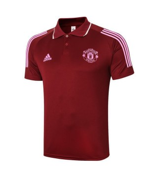 Manchester United Soccer Claret Jersey Football Polo Uniform 2021-2022