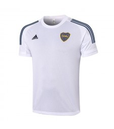 Boca White Short Sleeve Training Soccer Jerseys Mens Football Shirts Uniforms 2020-2021