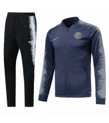 Inter Milan Blue Printed Sleeve Tracksuit 2018/2019