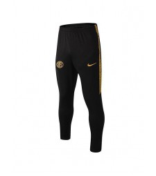 Inter MIlan Black Tracksuit Trousers Football Mens Soccer Training Gold Logo 2019-2020