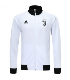 Juventus White Jacket Player Version Black Neck 2019-2020