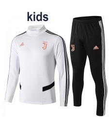Juventus Kids Tracksuit Soccer White Football Training Jersey 2019-2020
