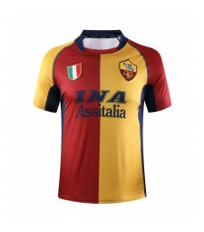 AS Roma Home Soccer Jerseys Mens Football Shirts Uniforms 2001-2002
