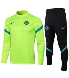 Inter Milan Fluorescent Green Soccer Tracksuit Mens Football  Uniforms 2021-2022