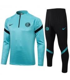 Inter Milan Sky Blue Soccer Tracksuit Mens Football  Uniforms 2021-2022