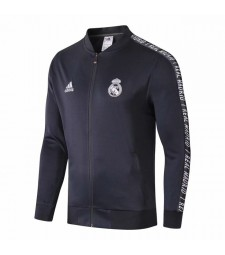 Real Madrid Gray Jacket Long Zipper 2019-2020